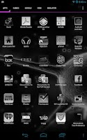 Screenshot of Black & White Icon THEME★FREE★