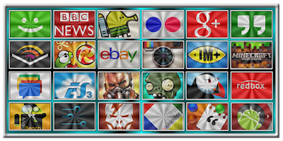 Screenshot of Glass FleKtangles Icon Pack