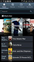 Screenshot of Media Hub – Samsung Captivate