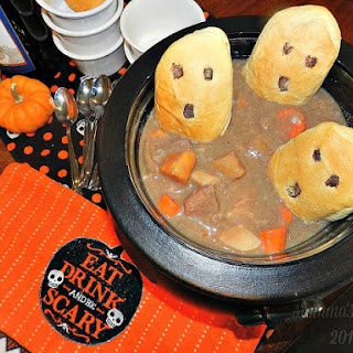 Beef Stew with Ghost Dumplings