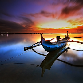 morning boat  by Nghcui Agustina - Transportation Boats
