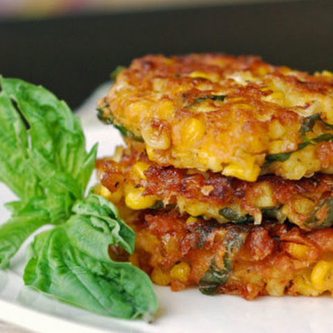 Corn and Sweet Pepper Fritters