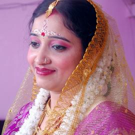 by Anindya Bhattacharjee - Wedding Bride ( pinki, anindya, marriage )