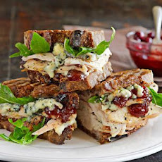 Turkey Panini with Blue Cheese and Cranberry-Apricot Chutney