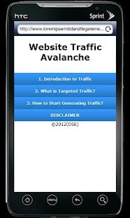 Website Traffic Avalanche - screenshot