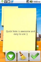 Screenshot of Quick Note old