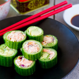 Paleo Sushi with Salmon & Avocado