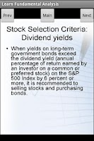Screenshot of Stocks Fundamental Analysis