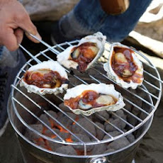 Grilled Oysters with Barbecue Sauce