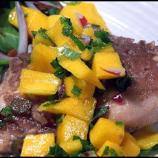 Spiced Rum-Sugar Chicken With Mango Mojito Salsa