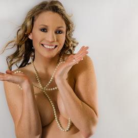 Boudoir Babe by Michele Dan - Nudes & Boudoir Boudoir ( boudoir photography, sexy, pearls, boudoir, bedroom )