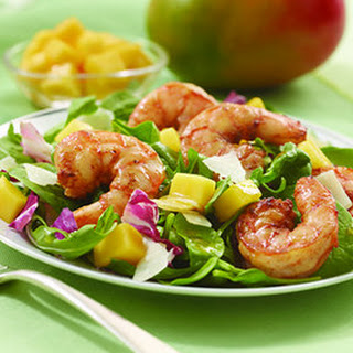 Roasted Shrimp and Mango Salad