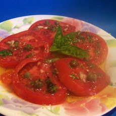 Fresh Tomatoes With Caper Dressing