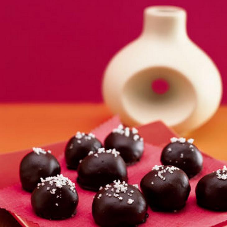 ... chocolate cherry walnut truffles salted caramel bittersweet chocolate