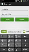 Screenshot of Dead2Me Call & Text Blocker