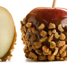Peanut Butter–Chocolate Caramel Apples with Honey Peanuts