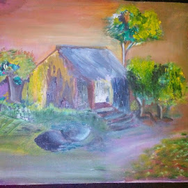 Village by Vinay Tr - Painting All Painting