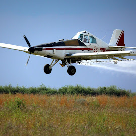 Crop Spraying  by Coena le Roux - Transportation Airplanes