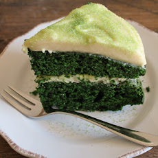 Green Velvet Cake with Baileys Cream Cheese Frosting