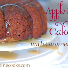 Apple Spice Cake with Caramel Glaze