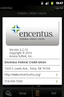 Screenshot of Encentus Mobile