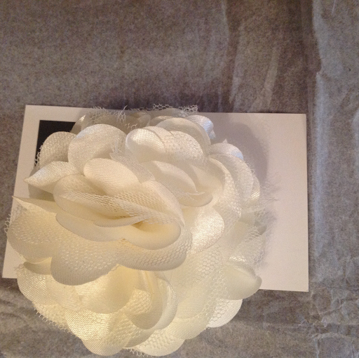 Ivory flower for hat decoration