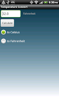 Screenshot of Simple Temperature Convert