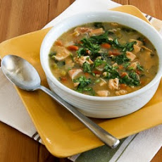 Chicken and Pinto Bean Soup with Lime and Cilantro