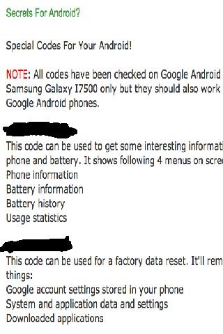 Secrets For Android