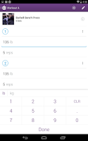 Screenshot of Fitocracy Workout Fitness Log