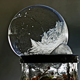 Bubble Lantern by Catherine Melvin - Artistic Objects Glass ( pattern, soap bubble, ice, glass jar, freezing )