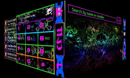 Neon Skull GO Contacts