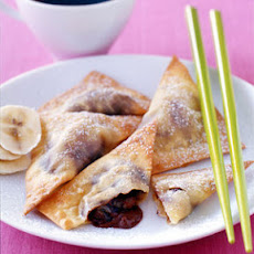 Chocolate-Banana Wontons
