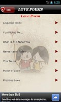 Screenshot of Love Poems