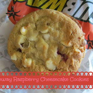 Subway White Chocolate Raspberry Cheesecake Cookie