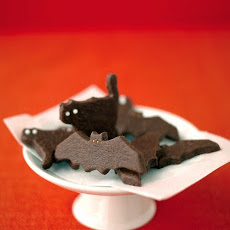 Ghostly Bat and Cat Cookies
