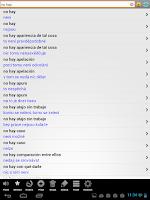 Screenshot of Španělský slovník PCT+