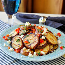 Warm Grilled Potato Salad with Lemon and Oregano