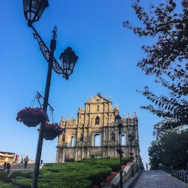Saint Paul's, Macau's trademark  by Renato Marques - Instagram & Mobile iPhone ( macao, saint paul's, trademark, macau, ruins, china )