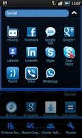 Screenshot of GO Launcher Theme Black & Blue