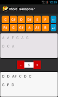Screenshot of Chord Transposer