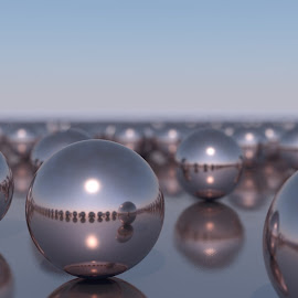 Spheres Reflecting by Lux Aeterna - Illustration Products & Objects