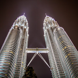 Twin Tower usual angle :) by Adi Susanto - Buildings & Architecture Other Exteriors (  )