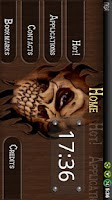 Screenshot of Wood Skull ssLauncher Theme