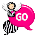 GO SMS - Pink Zebra Angel icon