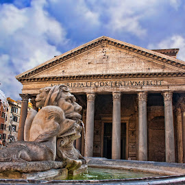 PANTHEON (ROME) by Gianluca Presto - Buildings & Architecture Public & Historical ( roma, old, ancient, travelling, hdr, cvloudy, storic, rome, palce, travel, roman, italy )