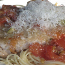 Pork Scalloppini With Green Olives, Tomato And White Wine