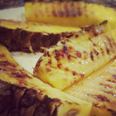 Griddled Pineapple with Spiced Caramel