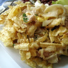 My Mom's Tuna Casserole With Potato Chips and Eggs