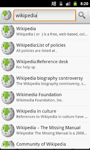 wikiencyclopedia-for-wikipedia for android screenshot